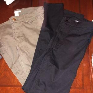 H&M Black and Green Jeans